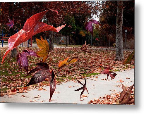 Landscape Metal Print featuring the photograph Autumn Wind by Richard Gordon