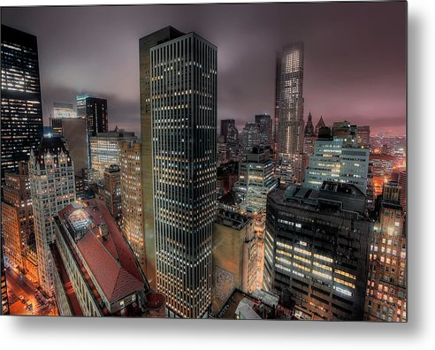 Nyc Metal Print featuring the photograph City Lights by Richard Vinson