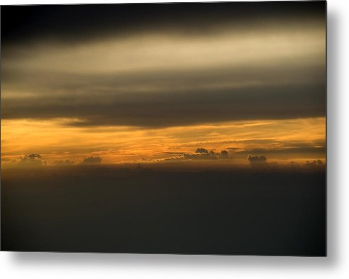 Aerial View Metal Print featuring the photograph Sunset From Above by Jessica Wakefield