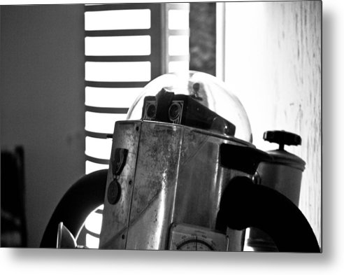 Robot Metal Print featuring the photograph Robot by Brian Benson