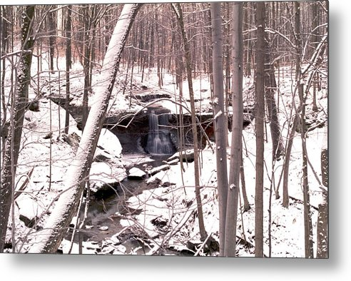 Waterfall Metal Print featuring the photograph 080506-48 by Mike Davis