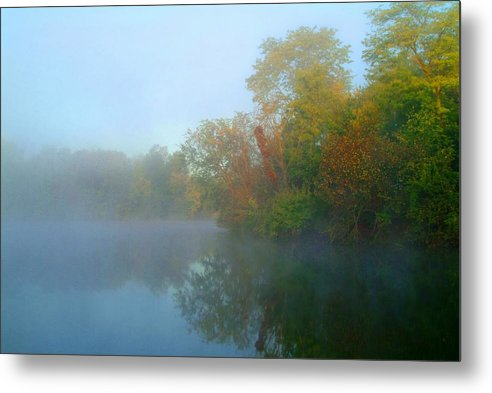 Fog Metal Print featuring the photograph 091809-54 by Mike Davis