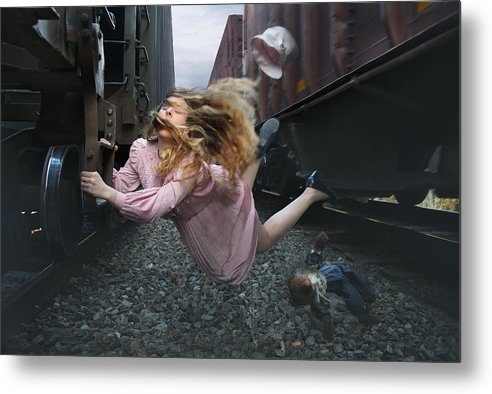 Conceptual Art Metal Print featuring the photograph Departure by Keith Clontz