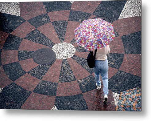 Rain Metal Print featuring the photograph Florida - Umbrellas Series 1 by Carlos Alvim