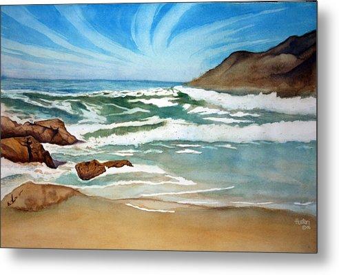Rick Huotari Metal Print featuring the painting Ocean Side by Rick Huotari