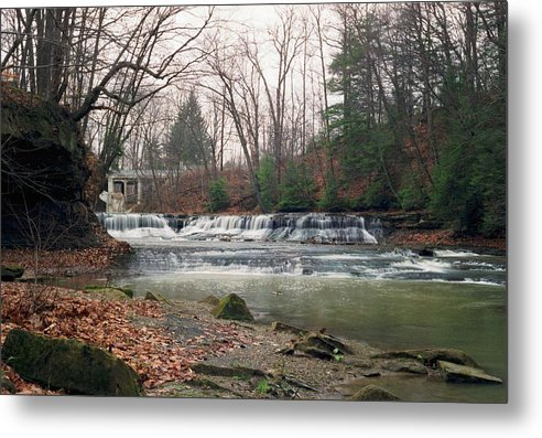 Waterfall Metal Print featuring the photograph 092507-2 by Mike Davis