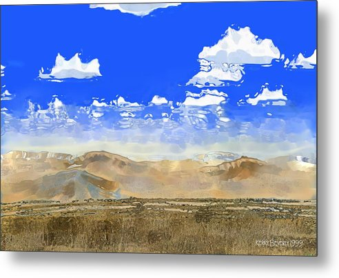 Southwest Metal Print featuring the digital art Big Country by Kerry Beverly