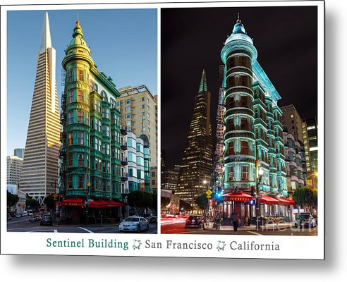 San Francisco Metal Print featuring the photograph Sentinel Building by RJ Bridges