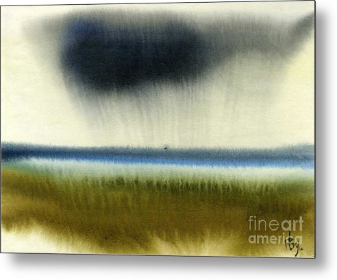 Sea Metal Print featuring the painting Gulf Of Finland by Vyacheslav Glazkov