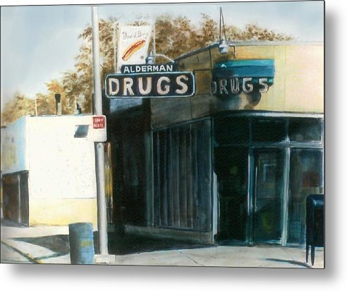 Urban Metal Print featuring the painting Alderman Drugs by William Brody
