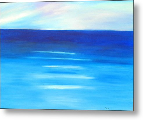 Caribbean Metal Print featuring the painting Sapphire Horizon by Sula Chance