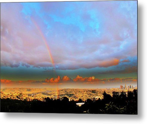 Scenic Metal Print featuring the photograph Layer Upon Layer Above L A by John King