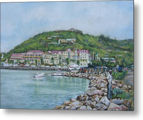 Island Metal Print featuring the painting Isle At St Martin St Maarten by Howard Stroman