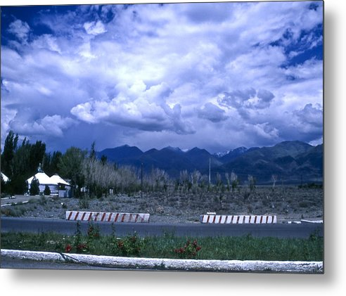Landscape Metal Print featuring the photograph Kyrgyzstan Mountains by Wes Shinn