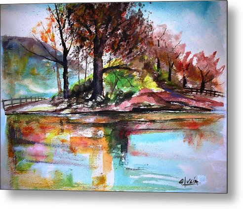 Watercolor.print. Metal Print featuring the print Water Colors by Carl Lucia