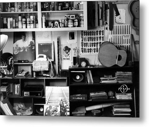 Black & White Photography Metal Print featuring the photograph Workroom 1979 by Gary Peterson