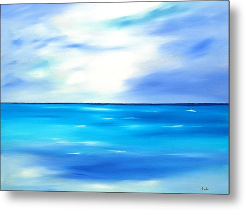 Caribbean Metal Print featuring the painting Forever Azure by Sula Chance