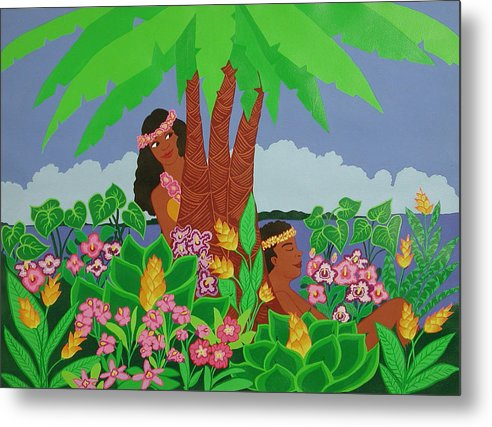 Tropical Metal Print featuring the painting Island Love by Susan Rinehart