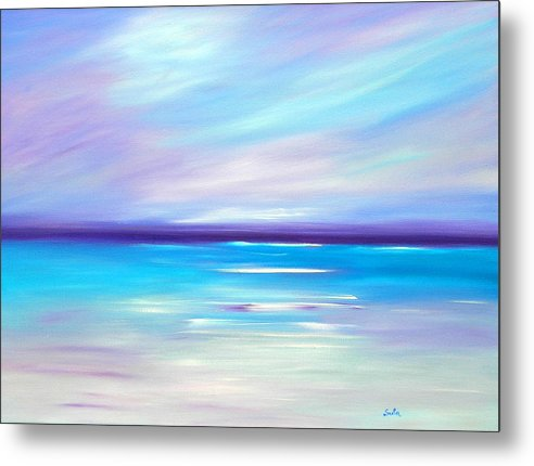 Caribbean Metal Print featuring the painting Lilac Islands by Sula Chance