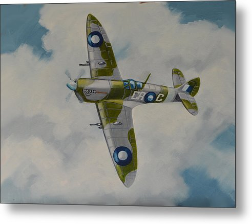 Avation Art Metal Print featuring the painting Spitfire Mk.viii by Murray McLeod