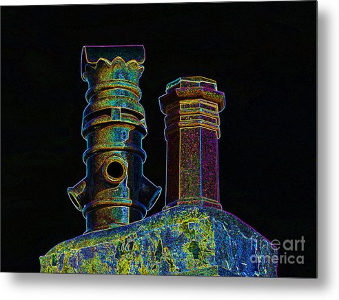 Chimney Pots. Fellside Metal Print featuring the photograph Chimney Pots. by Stan Pritchard