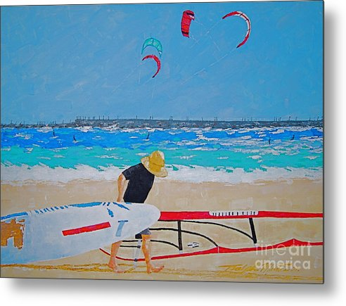 Beach Art Metal Print featuring the painting Dreamer Disease V Ponce Inlet by Art Mantia