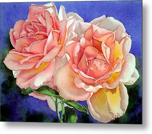 Floral Metal Print featuring the print Essence by Mary Backer