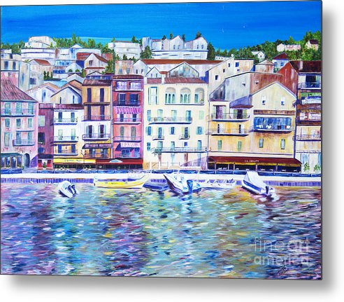 France Metal Print featuring the painting Mediterranean Morning by JoAnn DePolo
