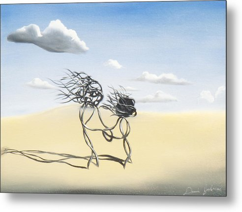 Surrealism Metal Print featuring the painting Sand Dance Mother And Child by Daniel Johnson
