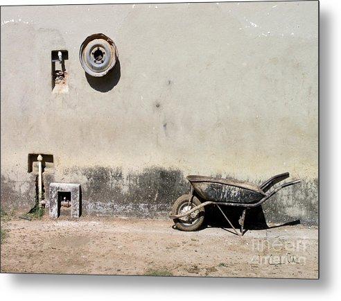 Wheel Metal Print featuring the photograph Wheels by Carlos Alvim