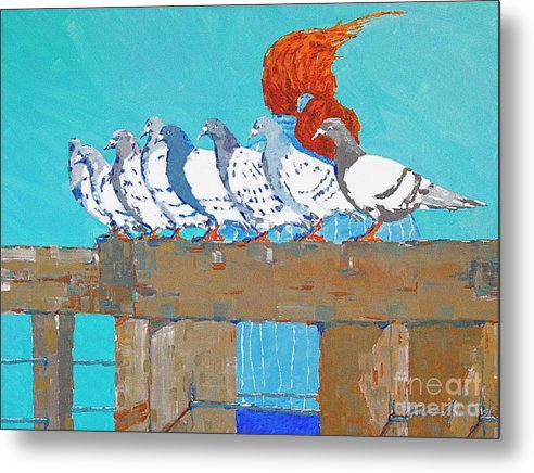 Pier Metal Print featuring the painting Windward by Art Mantia