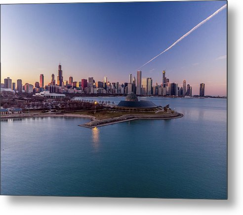 Chicago Skyline over Planetarium by Bobby King