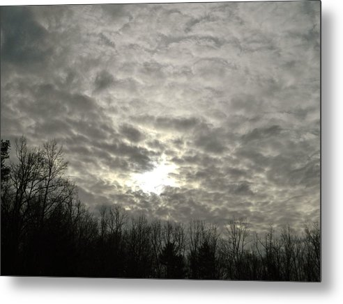 Metal Print featuring the photograph Cloudy Day by Frank Conrad