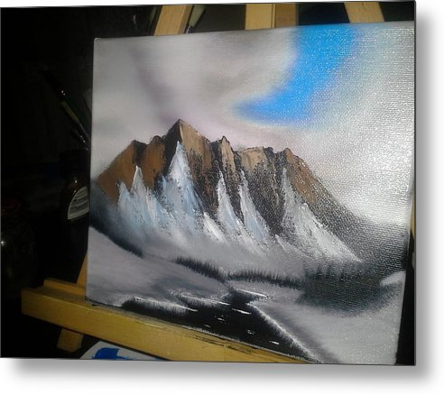 Landscape Metal Print featuring the painting Mountain by Roberto Castillo