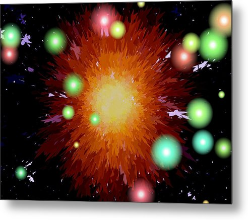 Abstract Metal Print featuring the photograph Starburst by Lisa Pence