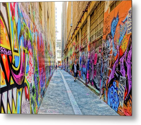 Melbourne Metal Print featuring the photograph Artalley by Noel Buttler