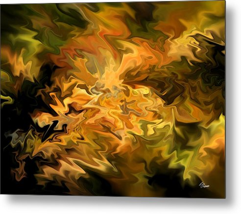Abstract Metal Print featuring the digital art Color Storm by Tom Romeo