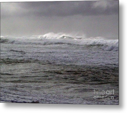 Seascape Metal Print featuring the photograph North Beach Winter Outside Break by Paul Miller