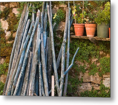 Wood Metal Print featuring the photograph Stacked Wood by Jim DeLillo