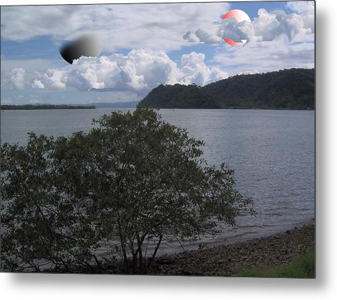 Land Scape Sci-fi Metal Print featuring the photograph The Coolness Of Other Planets by Giles b Liddell