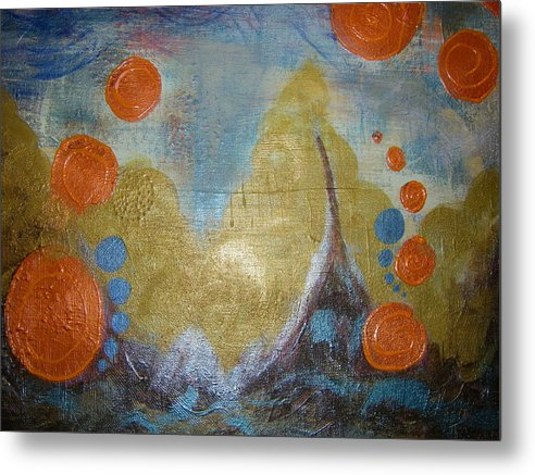 Stormy Waters Metal Print featuring the painting Untamed Angst  by Seemoy Law-Hugh