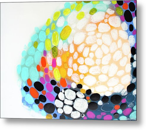 Abstract Metal Print featuring the painting When You Get Home by Claire Desjardins