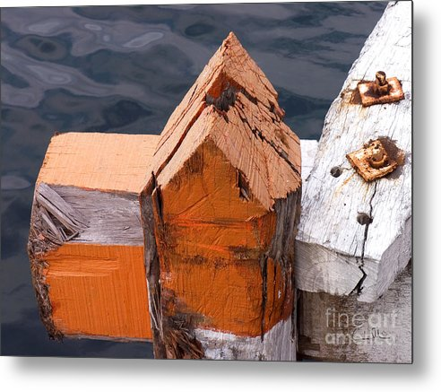 Pillar Metal Print featuring the photograph Wood Pillar by Carlos Alvim