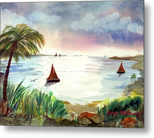 Island Boats Metal Print featuring the print Island Of Dreams by George Markiewicz
