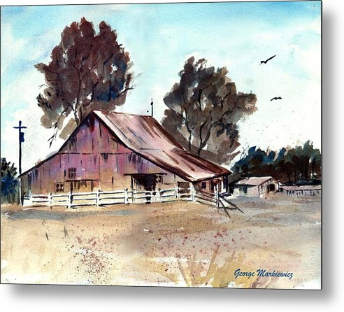 Barn Metal Print featuring the print Country Barn by George Markiewicz