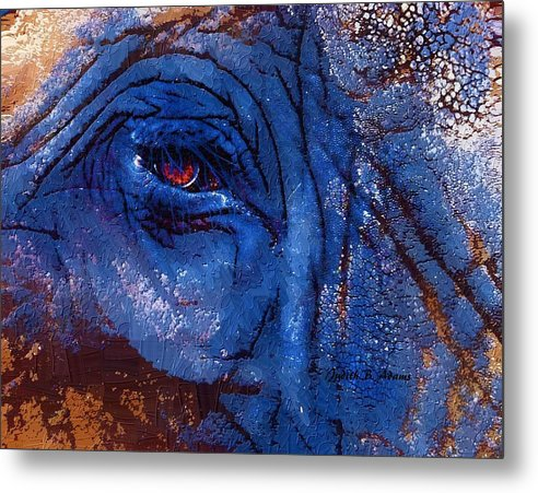 Elephant Metal Print featuring the photograph Elephant Eye by Judith B Adams