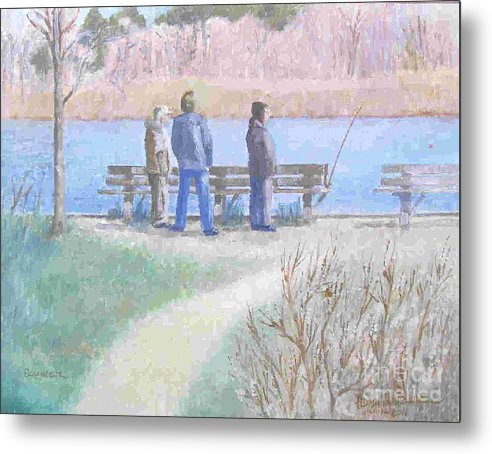 Waterfront Metal Print featuring the painting Squassux by Adam Leskowicz