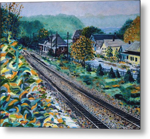 Garrison Metal Print featuring the painting Garrison Station by Ralph Papa