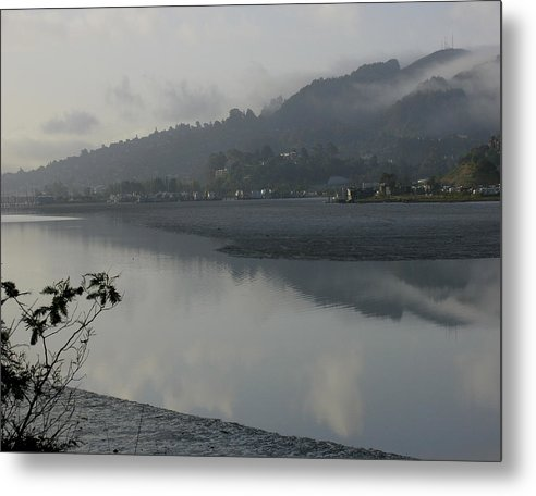 Landscape.west Sausalito.reflection.fog. Metal Print featuring the photograph Morning Fog by Vari Buendia