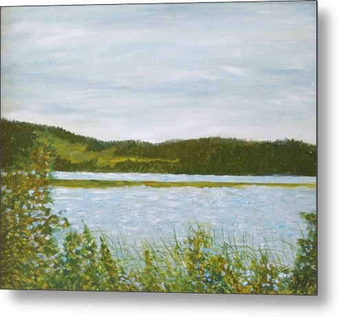 Lake Metal Print featuring the painting Across The Belleisle by Norman F Jackson